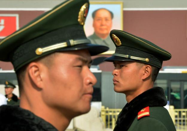 Chi�scy policjanci na Placu Tiananmen