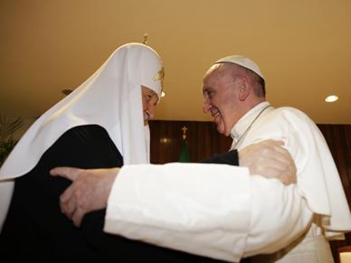 Pierwsze historyczne spotkanie papie�a Franciszka i patriarchy Cyryla
