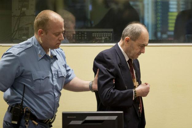 Zdravko Tolimir w czasie procesu w Hadze - zdjęcie z kwietnia 2015 r.