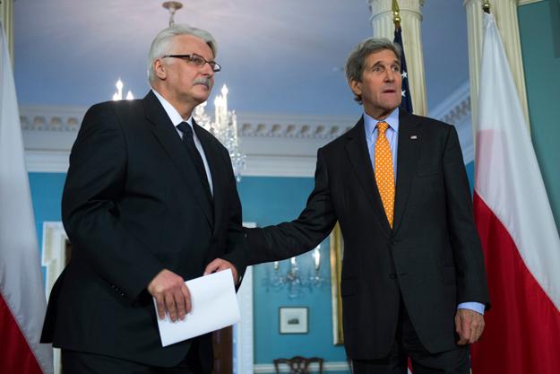 Szef polskiego MSZ Witold Waszczykowski i sekretarz stanu USA John Kerry.