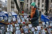 Przepychanki z policją podczas trzeciej rocznicy Majdanu w Kijowie