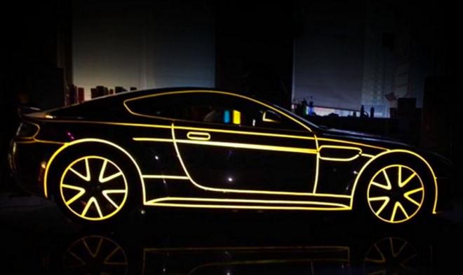 Świecący samochód