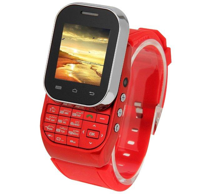 Telefon typu slider, tylko że w zegarku