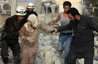 Bombardowania terenu rebeliant�w w Syrii. Zgin�o 43 cywil�w, w tym 9 dzieci