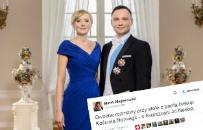 Oto zdj�cie, kt�re wr�czy�a para prezydencka kr�lowi i kr�lowej Norwegii