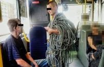 Ukradli 50 kg kabli. Z �upem wracali...autobusem miejskim