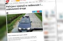 Przez drzemk� zablokowali drog�. �pi�cych w radiowozie policjant�w obudzi� kierowca ci�ar�wki