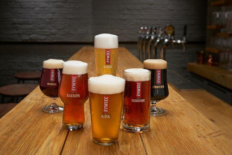 Piwa Żywiec - szkło