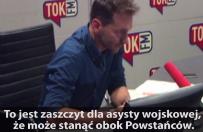 Piotr Kra�ko: to nie jest zaszczyt dla powsta�c�w warszawskich, �e stanie obok nich asysta wojskowa. To zaszczyt dla asysty...