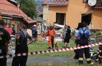 Wybuch gazu w domu jednorodzinnym w Kluszkowcach