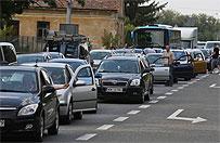 Kilkaset osób blokowało DK 7 koło Tarczyna