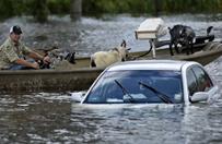 Prezydent Obama z wizyt� u powodzian