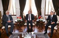 Rozpocz�y si� rozmowy szef�w MSZ Polski, Turcji i Rumunii w Ankarze