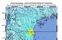 Trz�sienie ziemi w Tanzanii
