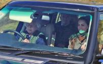 Kr�lowa El�bieta wsiad�a za k�ko Range Rovera i zawioz�a rodzin� na... polowanie