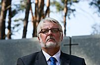 Witold Waszczykowski: wkr�tce przedstawi� odtajnione dokumenty dotycz�ce organizacji wizyty w Katyniu