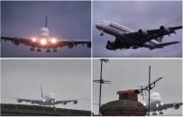 Dramatyczne nagranie pot�nego Airbusa l�duj�cego z bocznym wiatrem