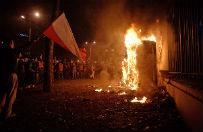 Prokuratura podj�a ponowne �ledztwo ws. podpalenia budki przy ambasadzie Rosji podczas Marszu Niepodleg�o�ci w 2013 r.