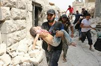 """Wojna w Syrii. UNICEF: 100 tys. dzieci w Aleppo w potrzasku. """"Barbarzy�stwo"""""""