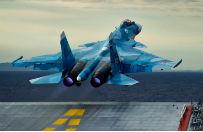 Katastrofa rosyjskiego myśliwca podczas lądowania na lotniskowcu