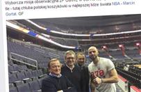 Posłowie na meczu NBA. Pytania o wizytę parlamentarzystów w USA