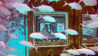 Podwodny pokój hotelowy u wybrzeży Zanzibaru