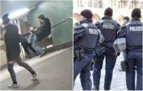 Imigranci zepchnęli kobietę ze schodów. Policja skupiła się jednak na szukaniu osoby, która opublikowała wideo  w sieci