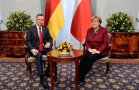 Angela Merkel rozmawiała z Andrzejem Dudą w cztery oczy
