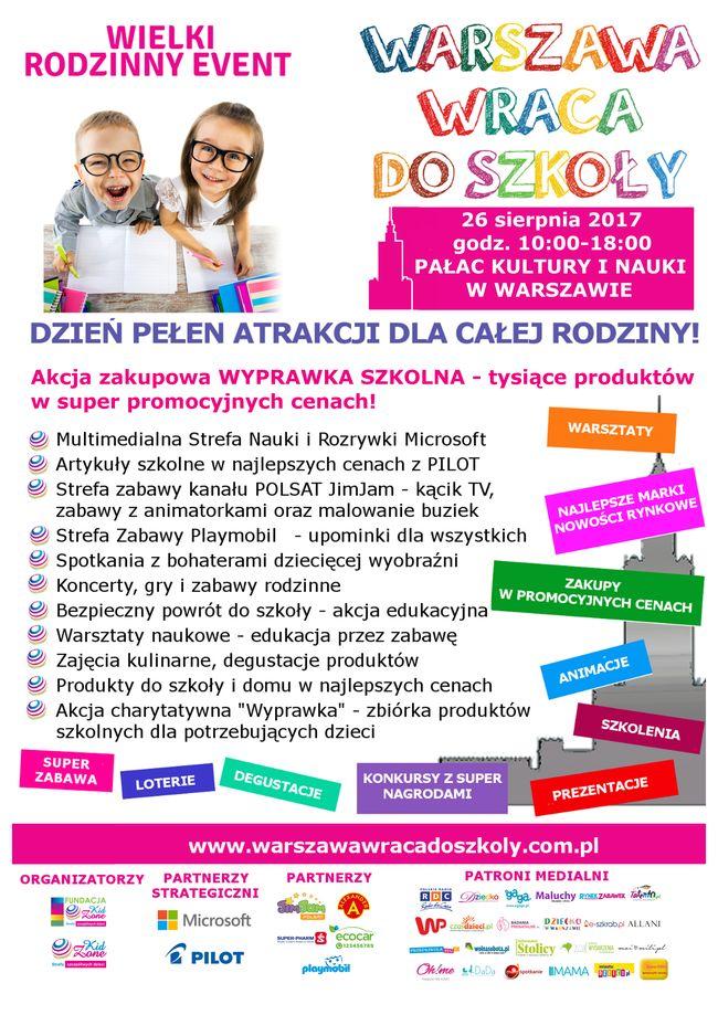 Warszawa wraca do szkoły - rodzinny event