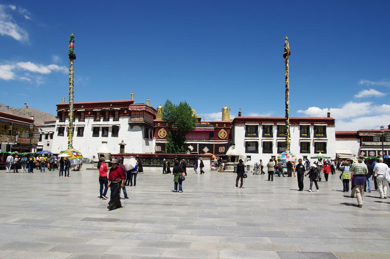 Pożar zabytkowej świątyni Dżokhang w Tybecie