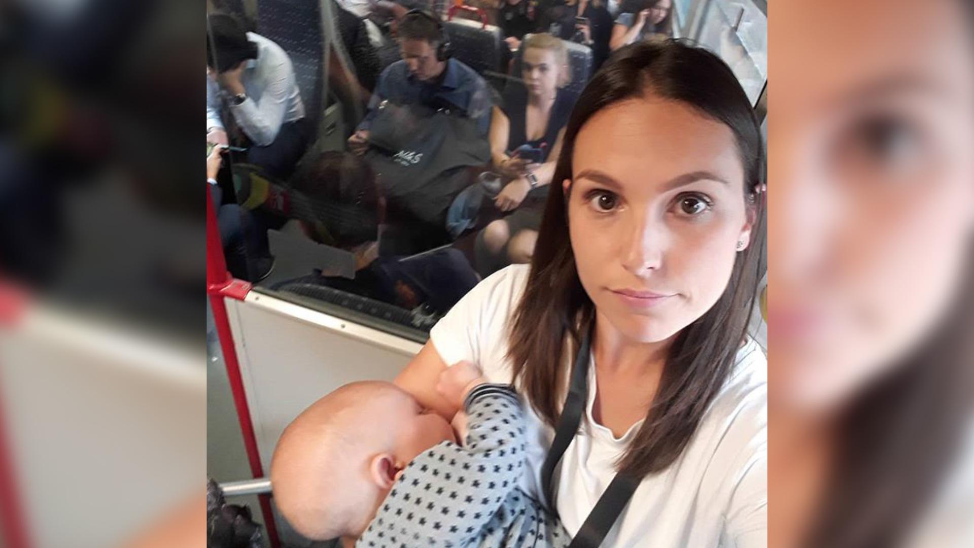Mama musiała karmić na stojąco w pociągu