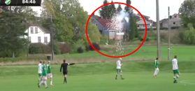 """#dziejesiewsporcie: nietypowe """"fajerwerki"""" na meczu. Trafił w linię wysokiego napięcia"""