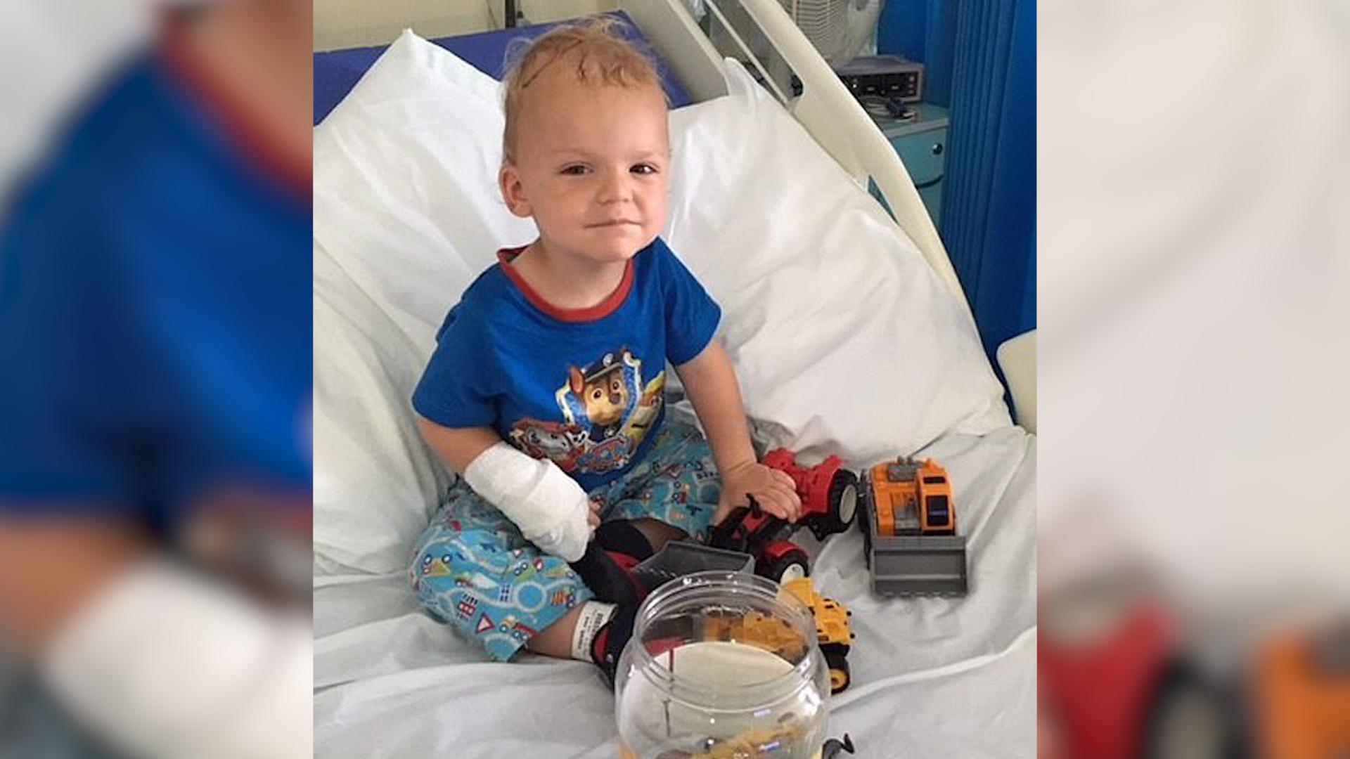 Dziecko z rzadkim nowotworem