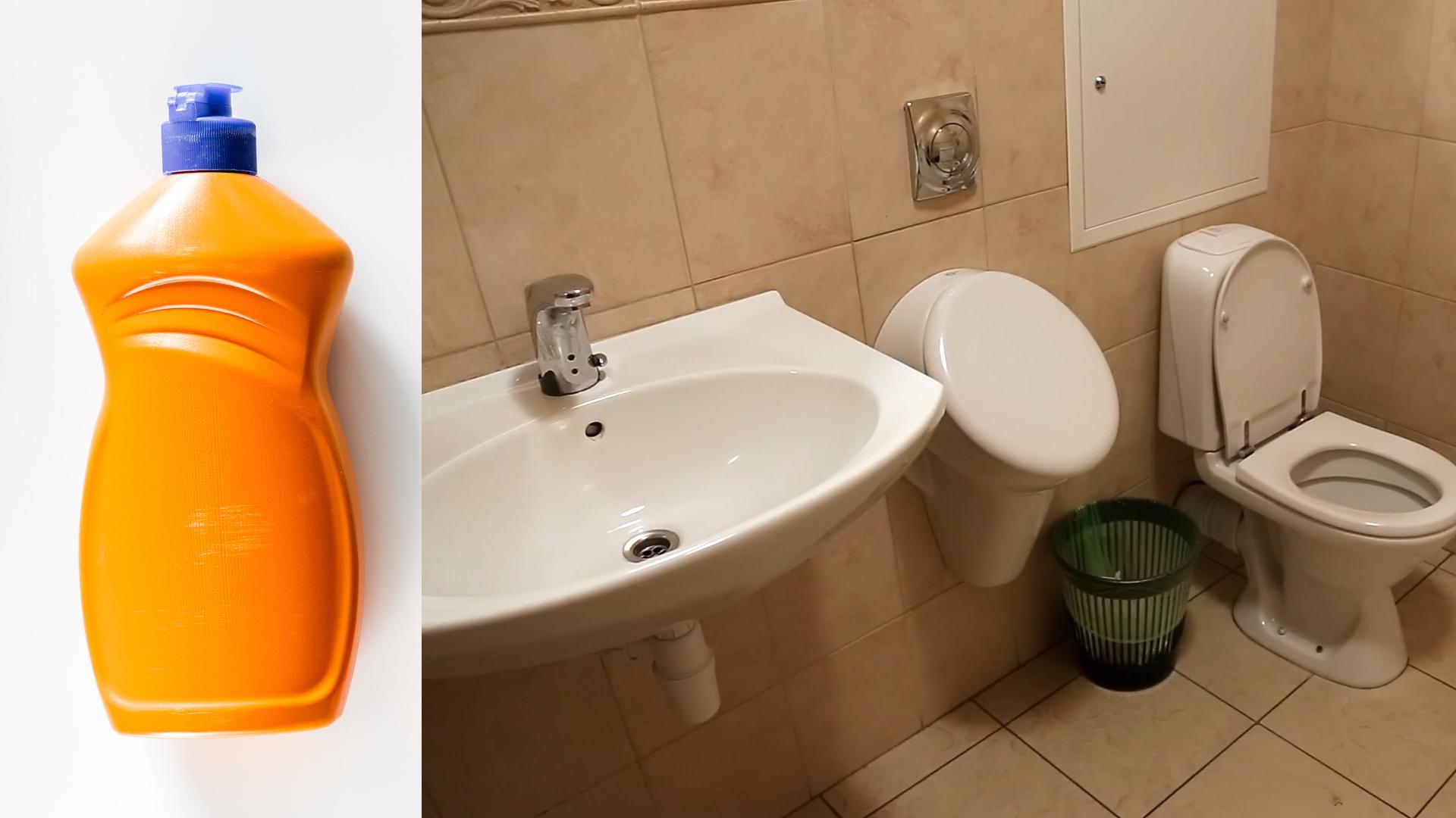 Płyn do mycia naczyń na zatkaną toaletę lub zlew