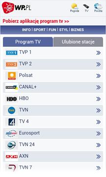 Program TV - Mobilna WP.PL