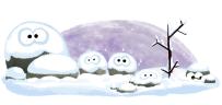 Przesilenie zimowe w Google Doodle
