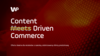 Content Driven Commerce (CDC) Oferta