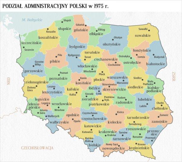 Polska Mapa Scienna Podzial Administracyjny