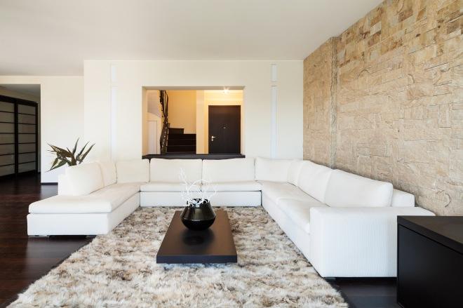 pomys na cian w salonie dekoracyjny kamie cienny. Black Bedroom Furniture Sets. Home Design Ideas