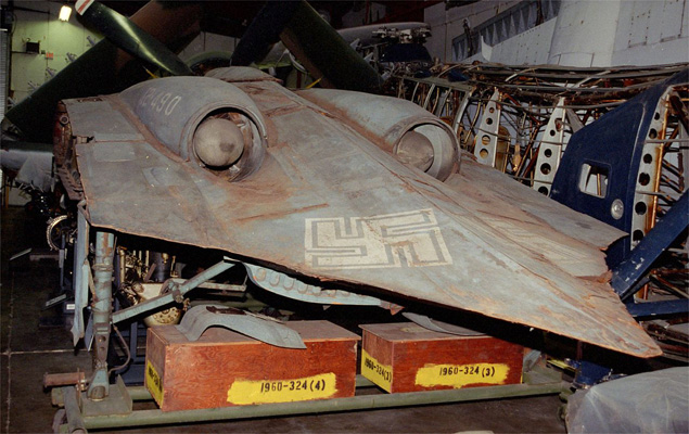 Fragment prototypu Horten Ho 229