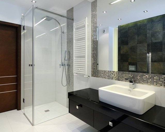 Aranżacje łazienek Nowoczesne łazienki Z Prysznicem