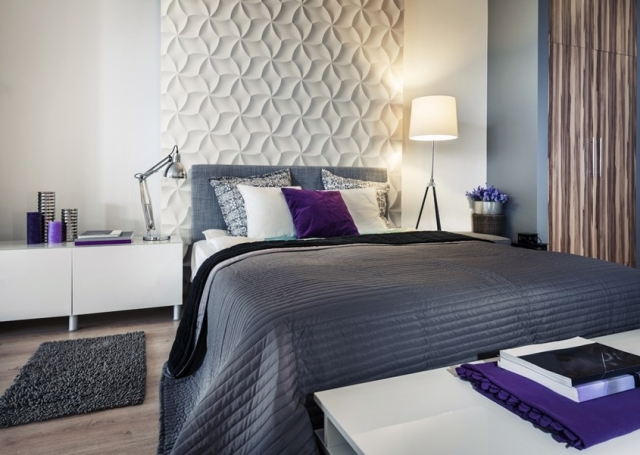 Czym Wykończyć ścianę Za łóżkiem Tapetą Wp Dom