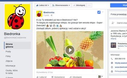 ad9879b3ffa9d Biedronka na Facebooku. I już z pierwszym kryzysem w social mediach - WP  Finanse